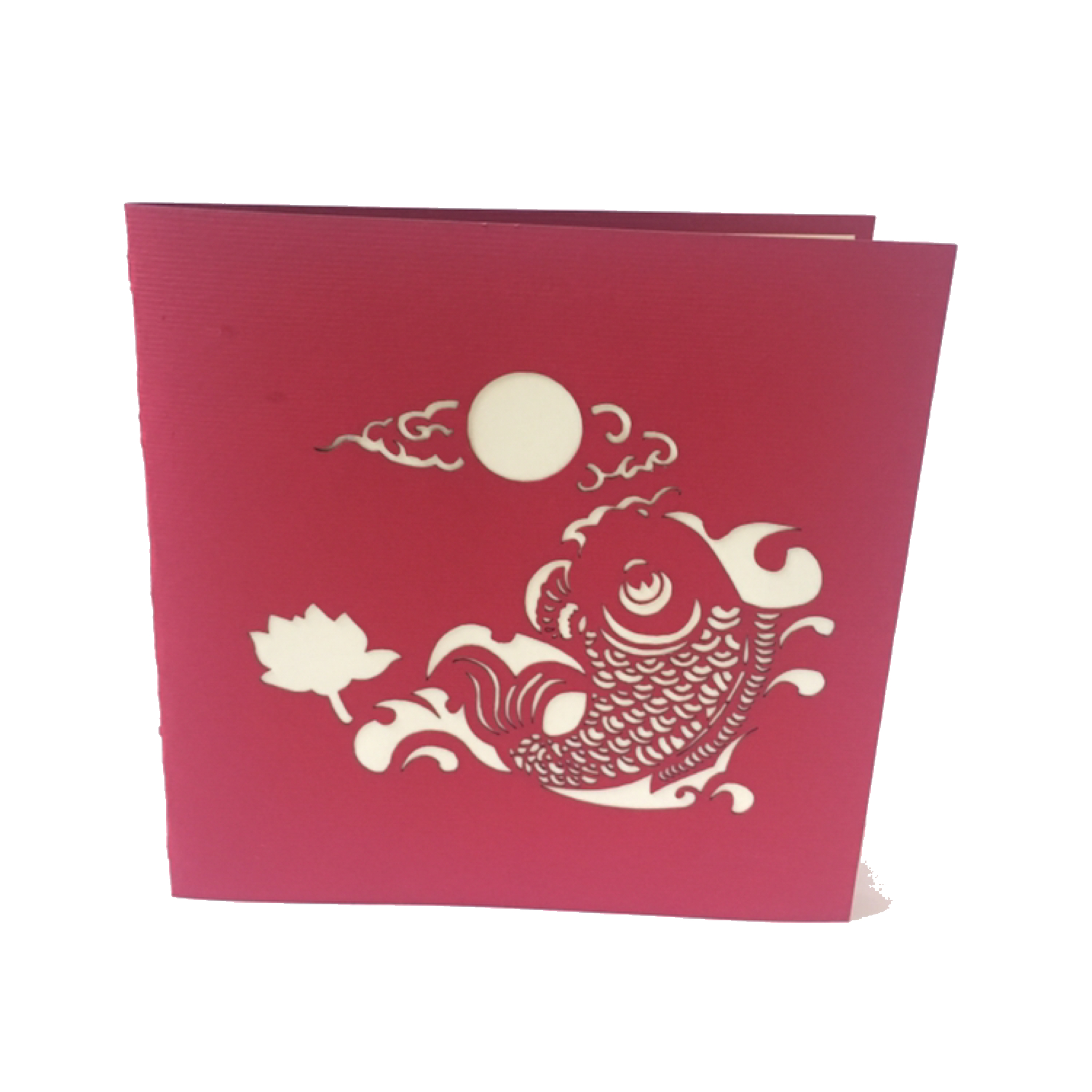 My Kirigami Koi Carte En Kirigami Carte De Voeux Carte Postale